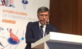Francisco Román, presidente de SERES, en el Foro de ciudades inclusivas y empleo (Sevilla)