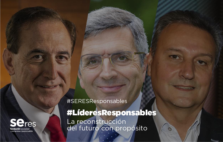 Antonio Huertas y Jesús Alonso ponen de manifiesto la importancia del dividendo social y la colaboración para la reconstrucción en #LíderesResponsables, moderado por Francisco Román