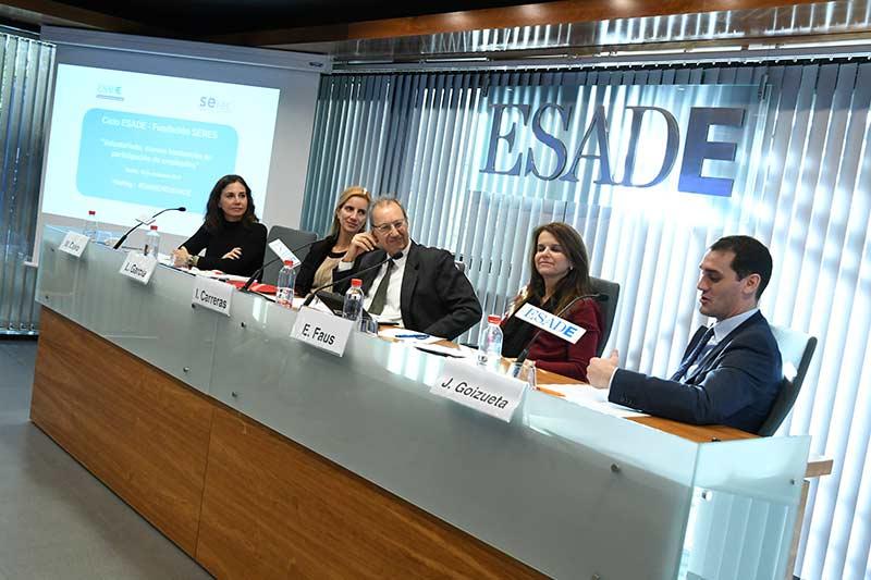 Ciclo de conferencias ESADE – Fundación SERES: 'Voluntariado, nuevas tendencias en participación de empleados'