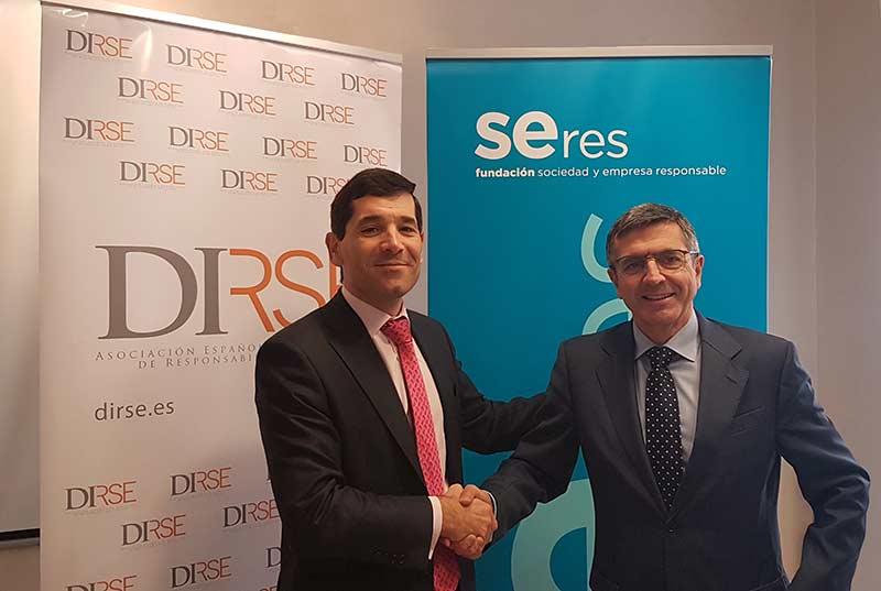 Fundación SERES y DIRSE firman un acuerdo de colaboración para fortalecer la responsabilidad social empresarial (RSE) como parte esencial en las organizaciones