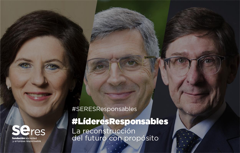 Helena Herrero y José Ignacio Goirigolzarri dialogan, en #LíderesResponsables junto a Francisco Román, sobre la importancia de invertir en procesos de innovación en el futuro que podrán garantizar bienestar a las personas