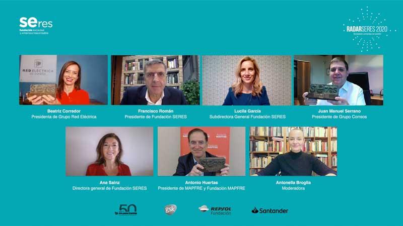 RADARSERES clausura su segunda edición con la entrega de los Premios SERES 2020 para reconocer el compromiso y la innovación social de las empresas
