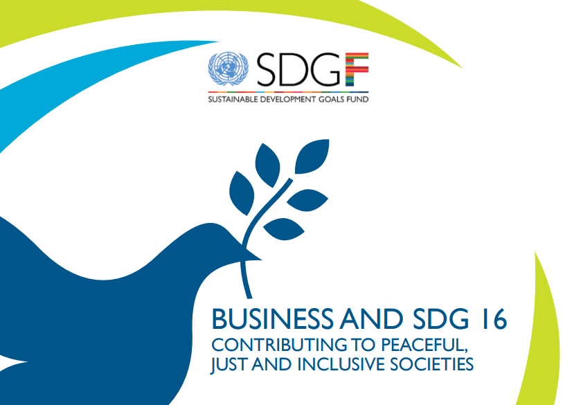 Business and SGD 16. Contributing to peaceful, just and inclusive societies
